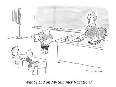cartoon summer vacation