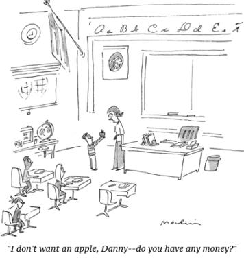 cartoon teacher money