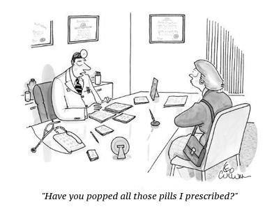 cartoon popped pills