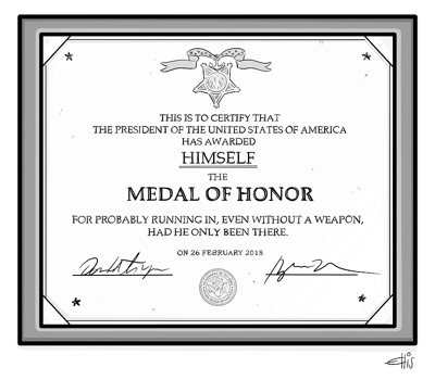 cartoon trump honor