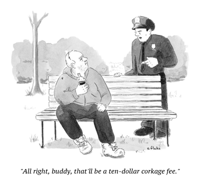 cartoon corkage fee
