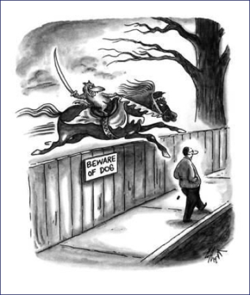 cartoon beware of dog