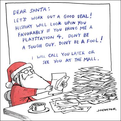 cartoon dear santa