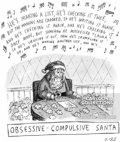 Obsessive-Compulsive Santa