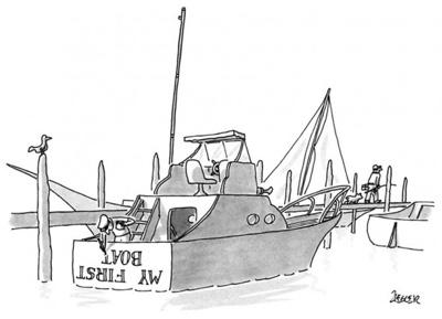 cartoon my first boat
