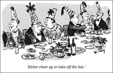 cartoon new year hat