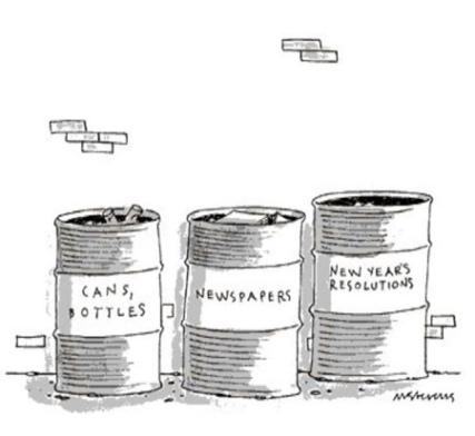 cartoon new year trash