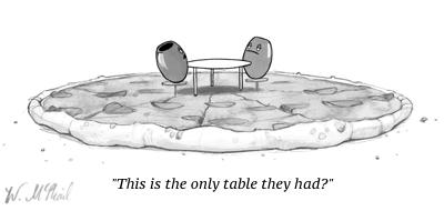 cartoon olives table