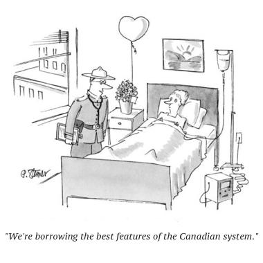 cartoon mountie hosiptal