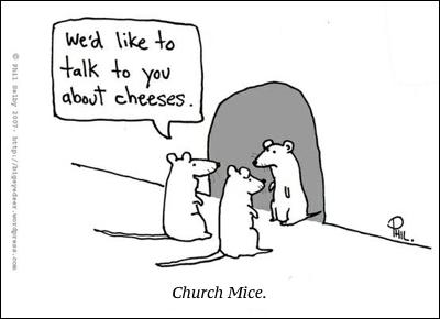 cartoon church mice