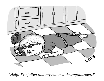 cartoon fallen