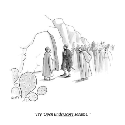 cartoon open sesame